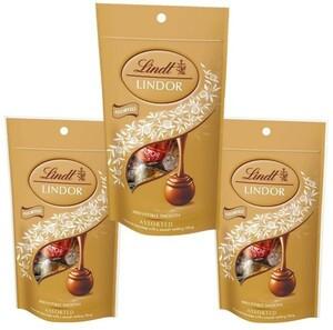 リンツ(Lindt) リンドール アソートパック 60g(5P)×3袋  【宅配便送料無料】【個包装 高級チョコレート トリュフチョコ】