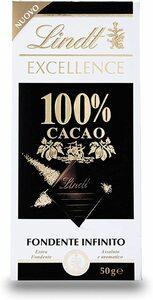 リンツ(Lindt)  エクセレンス・100%カカオ 50g   【宅配便送料無料】【ハイカカオ ダークチョコ 無糖】
