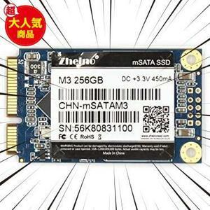 Zheino M3 内蔵型 mSATA 256GB SSD (30 * 50mm) mSATAIII 3D Nand 採用 6Gb/s mSATA ミニ ハードディスク