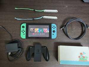 Nintendo Switch本体 あつまれどうぶつの森セット DLソフト無し 箱あり 注意事項ありニンテンドースイッチ 本体
