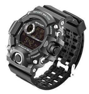 デジタル腕時計 メンズウォッチ Gshock型 アウトドア バックライト スポーツ カジュアル 防水 耐衝撃 ブラ|a
