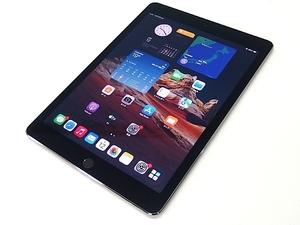 ■α Apple iPad Air 2 16GB Wi-Fi+Cellular スペースグレイ MGGX2J/A (A1567) Softbank/アップデート済/9.7インチ※液晶に加圧痕あり 37