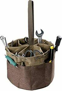 ブラウン/Brown [Hkyna] 工具入れ ケース ツールバッグ 工具収納ケース パラシュートバック 大容量 持ち運び (ブ
