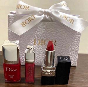 Dior 新品!未開封!リップ&ネイル3点ミニサイズセット