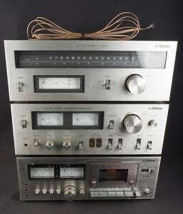※① Victor ビクター JA-S35 / JT-V35 / KD-35Ⅱ プリメインアンプ FM/AMチューナー カセットデッキ 3点セット