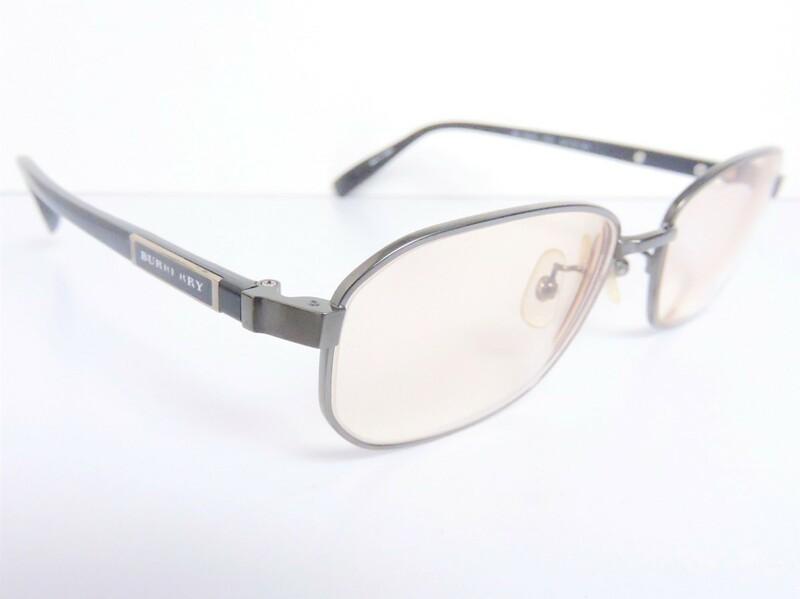 正規品 バーバリー BURBERRY 度入り眼鏡 メガネフレーム BE 1062T 1001 54□16 140 サイドロゴ ケース付き