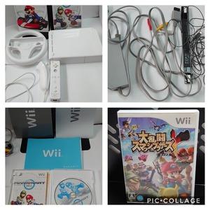 Wii 本体 大乱闘スマッシュブラザーズ エックス       マリオカート Wiiソフト マリオカート専用ハンドル 送料無料
