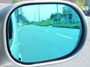 new goods * wide-angle dress up side mirror [ light blue ] Opel Omega 93 year autobahn [AUTBAHN]