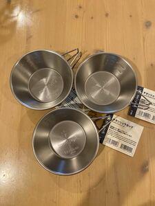 新品未使用 スノーピーク snow peak チタンシェラカップ 食器 E-104×3