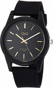 新品□ OAブラック/ゴールドバー [シチズンZZ-8OQ Q] 腕時計 アナログ 防水 ウレタンベルト VS40-005 メン
