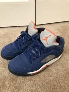 Nike Jordan 5 ジョーダン US8 26cm 青 スウェード 1 6 中古 箱無し ニックス New york ニューヨーク