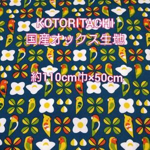 KOTORITACHI☆国産オックス生地 小鳥柄