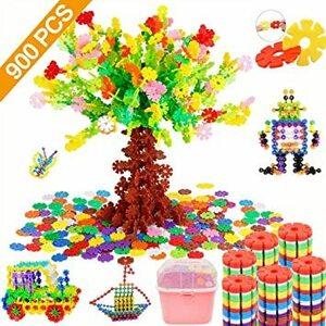 Tebrcon 約900ピース おもちゃ ブロック 子供 積み木 知育玩具 セット 男の子 女の子 はめ込み 組み立て DIY