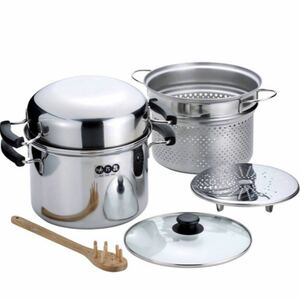 【新品】IH対応ドームパスタポットセット 日本製 パスタ鍋  鍋セット 調理器具