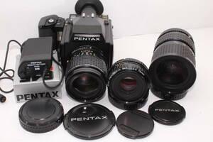 PENTAX 645 SMC PENTAX-A 645 F2.8 75mm (W3939)・・150mmF3.5//45-85mmf4.5付