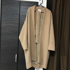 ニコアンドniko and秋冬物ロングコートゆったり着丈115身幅60サイズ4ベルトつき毛玉あり