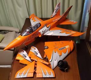 FMS スーパースコーピオン 90mm EDF ジェット ダクト ラジコン RC 電動 オレンジ 予備パーツ付  飛行 機【引き取り限定】