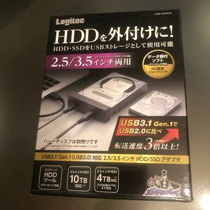 ロジテック USB3.0 SATA変換アダプタ 3.5インチ/2.5インチ HDD SSD対応 HD革命付属 LGB-A35SU3
