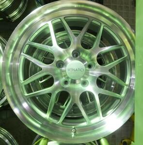 [ exhibition goods 4 pieces set ]MLJ VENATICI C-8SL 18 -inch 7.5J+53 PCD114.3/5H Estima / Rumion /C-HR/ Odyssey /CX-3/CX-5/CX-8