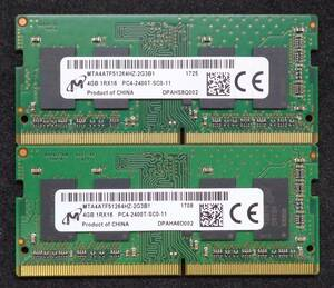 [ secondhand goods ]Micron made Note for PC4-2400T 1Rx16 4GB 2 pieces set 8GB * operation verification ending (473)