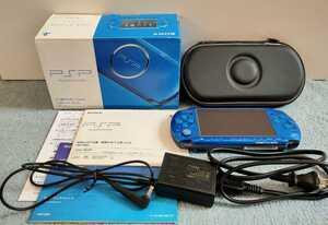 SONY PSP-3000 ブルー 本体 付属品全て有り メモリースティック8GB付き 動作確認済み 初期化済み