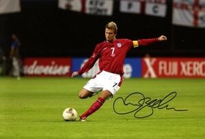 デビッド・ベッカム イングランド代表 直筆サインフォト/写真 サッカー David Beckham
