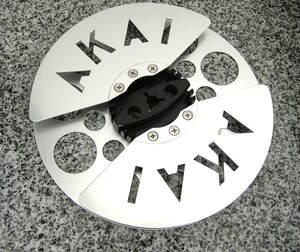 新品同様 極上 美品 貴重 使用僅少 デザイン優秀 AKAI アカイ 赤井電機 メタルリール 7号 オープンリール 空リール 1本 X-355D レア GX ②