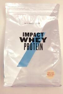 1円スタート マイプロテイン MYPROTEIN インパクトホエイプロテイン 黒糖 ミルクティー 味 2.5kg 新品 未開封 送料無料