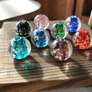 『専用ページ』トンボガラス 8色8個セット・ケラマグリーン しずく 10個 ハンドメイド アクセサリーパーツ
