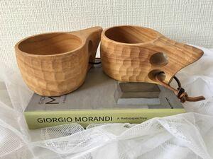 新入荷 手作り木製コップ 3個セット ククサ 北欧天然木カップ キャンプ