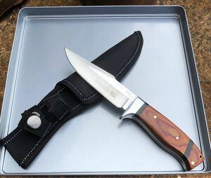 SB68 コロンビアナイフ 高品質シースナイフ 天然ウッドハンドル