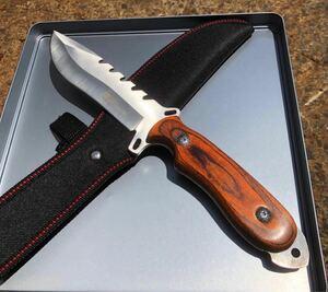 D013 コロンビアナイフ シースナイフ ウッドハンドル シースナイフ