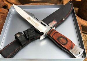 コロンビアナイフ G07 フルタング ウッドハンドル アウトドアナイフ