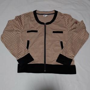 フィラ ギンガムチェック×ベロアのジャケット XLサイズ テニスウェア
