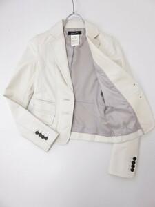 スタニングルアー ラム革 テーラードジャケット レザージャケット オフホワイト 36 S