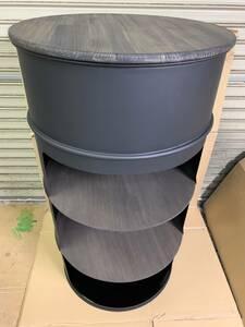 ハンドメイド ドラム缶テーブル 高さ110cm 男前 テラス カフェ 屋外飲食 カウンター バー スタンディング 立飲み 立ち呑み 居酒屋