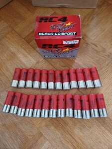 【New・送料無料】RC4 REDBLACK(レッドブラック) ダミーカート ショットガン M870 M3 M4 M1100 KSG SGR 空薬莢 12番 25本 箱付