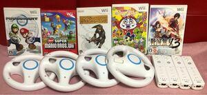 Nintendo Wii WiiU・マリオカートハンドル ・リモコン ・ソフトセット
