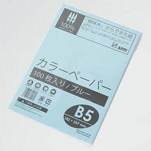 新品 未使用 カラ-コピ-用紙 APP R-PK 紙厚0.09mm 100枚 B5 ブル-