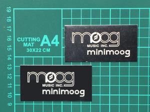 Moog Minimoog ミニムーグ用 ネームプレート アロイ 新品 1枚