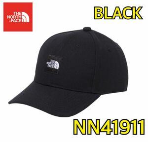【新品】 THE NORTH FACE ノースフェイス スクエアロゴキャップ 帽子 黒 ブラック フリーサイズ NN41911