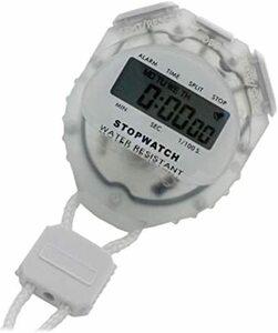 0c482ホワイト . [クレファー]CREPHA デジタルストップウォッチ 日常生活防水仕様 クリ
