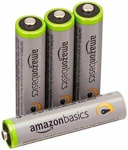 0c684Amazonベーシック 充電池 高容量充電式ニッケル水素電池単4形4個セット (充電済み、