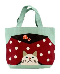 トートバッグ オコタターチャン たーちゃん ミニトートバッグ 内ポケット付き お散歩バッグ  猫 ネコ ねこ 送料無料