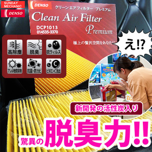 三菱 ミニキャブトラック DENSO クリーンエアフィルタープレミアム 014535-3770 DCP7001 DS16 デンソー 消臭 除菌 脱臭 エアコンフィルター