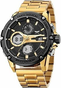 ◆残1◆ゴルード FEICE 腕時計 メンズ ペアウォッチ 多機能うで時計 防水 アナログ・デジタル LEDバックライト時計 日付・カレ