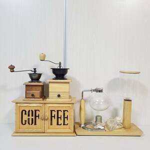 【C】 HARIO ハリオ サイフォン TC(A)-5 カリタ コーヒーミル COFFEE 瓶 ビン 手動豆挽き コーヒーグッズ 飲食店 店舗 喫茶店