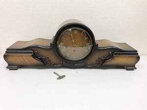 【C4648】 urgos ウルゴス ゼンマイ式 手巻き 木製 レトロ アンティーク ドイツ製 置き時計 チャイム鳴りました