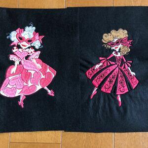 ロラライハリス 刺繍 2枚