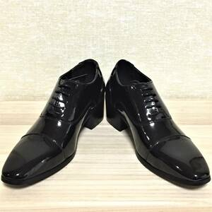 ◇新品 MM/ONE ビジネスシューズ PU革靴.  BLKEL/25㎝◇